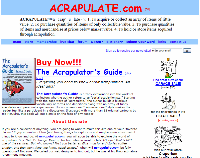 Acrapulate, Inc. website design by Thomas and Joyce, Inc.