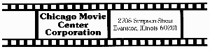 Chicago Movie Center Corporation logo design by Thomas and Joyce, Inc.