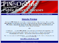 Public Policy Caucuses website design by Thomas and Joyce, Inc.